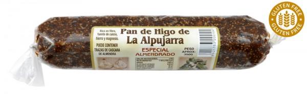 Original spanisches Feigenbrot mit Mandeln- 100 % natürlich- Glutenfrei und Vegan - lang - 350 Gramm