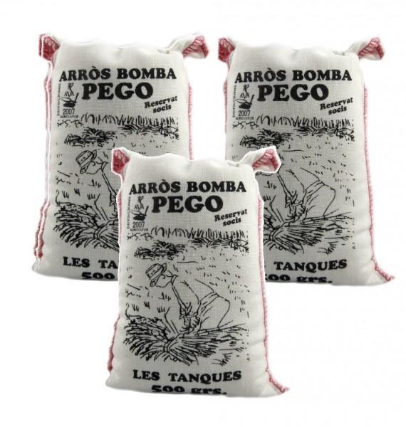 Bomba Reis aus Spanien 3 x 500g - Rundkornreis - für Paella, Risotto.... - Anbau im Naturpark Marjal