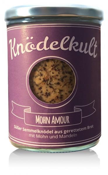 Knödelkult Mohn Amour - Semmelknödel mit Mohn und Mandeln 350g Glas - gerettetes Brot