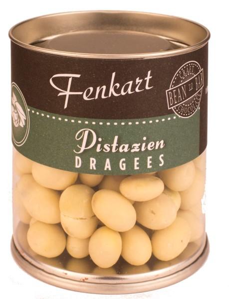 Pistazien In Weiße Schokolade 120g - Fenkart Schokoladengenuss - Schokoladen-Dragees