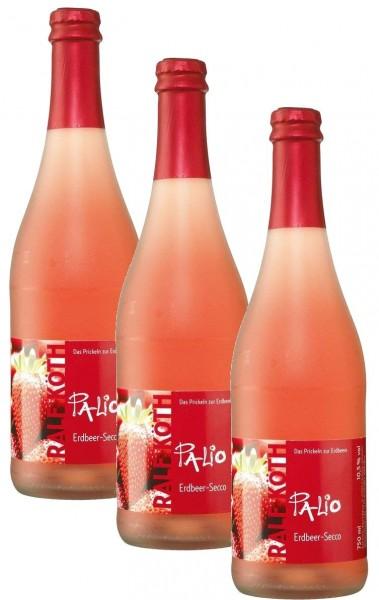 Palio - Erdbeer 3x 0,75l - Fruchtiger Perlwein - Prämiert aus Deutschland
