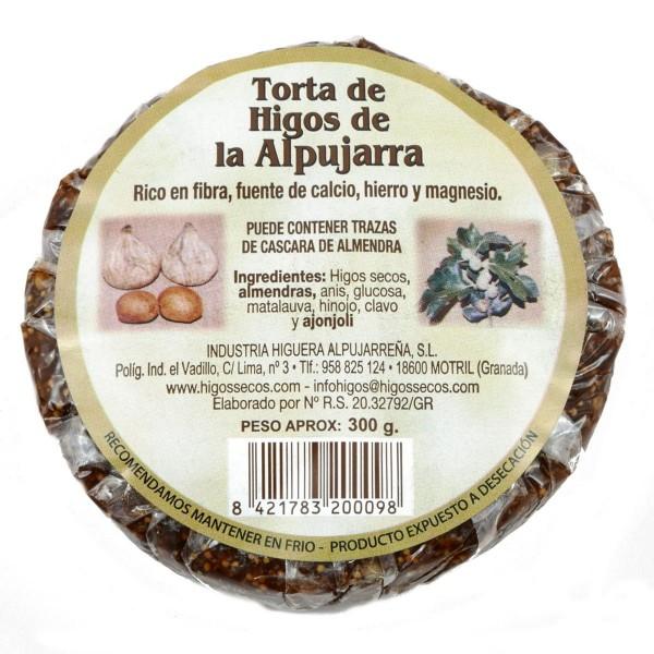 Original spanisches Feigenbrot mit Mandeln- 100 % natürlich und Vegan - rund - 300 Gramm