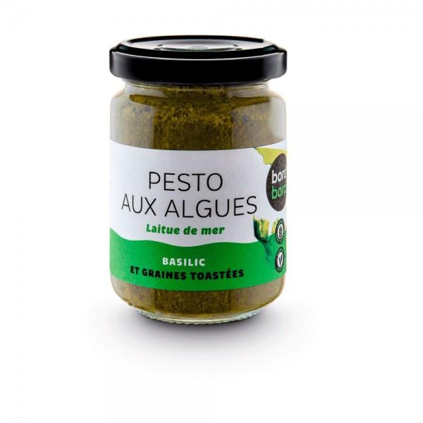 Bord à bord grünes Algenpesto aus Meersalat 120g aus Frankreich/Bretagne/Atlantik | Laborgeprüfte Algen | Grünes Pesto aus Algen