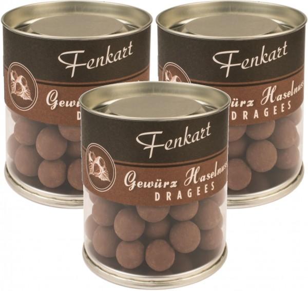 Gewürznüsse 3x 120g - Fenkart Schokoladengenuss - Schokoladen-Dragees 42%