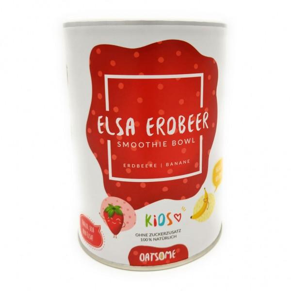 Oatsome - Kids Elsa Erdbeer's - Smoothie Bowl - Nährstoff Frühstück mit 100% natürlichen Zutaten & ohne Zusatzstoffe und raffinierten Zucker - 400g
