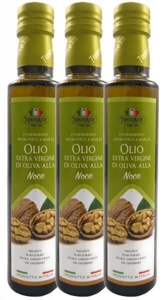 Extra Natives Olivenöl mit natürlichen Walnussaroma aus Italien-3x250ml