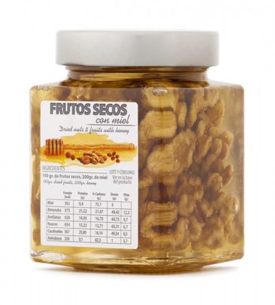 In spanischen Honig eingelegte Walnüsse - einzigartiges Produkt mit tollem Geschmack - 450 g Glas