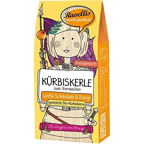 Ravellis Kürbiskerne in weißer Schokolade mit Orange (80 g) - Bio