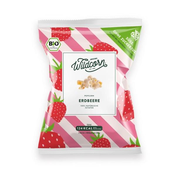 WILDCORN - Leckeres süßes Popcorn mit Erdbeere 25g