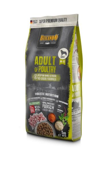 Hunde Trockenfutter - Adult Poultry mit Geflügel 1kg - Getreidefrei Belcando Hundefutter