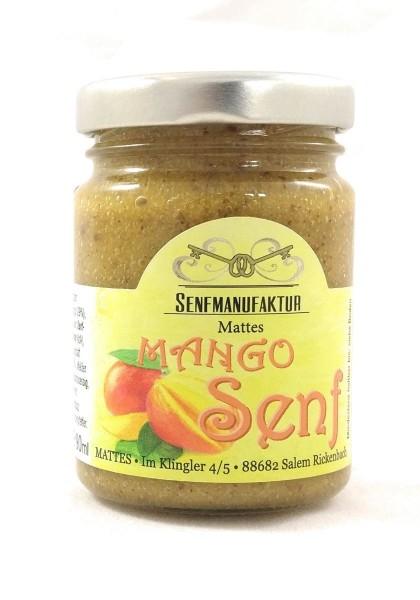 Feinster Mango Senf von der Senf Manufaktur 1x 90 ml - Süßer Senf original aus Deutschland