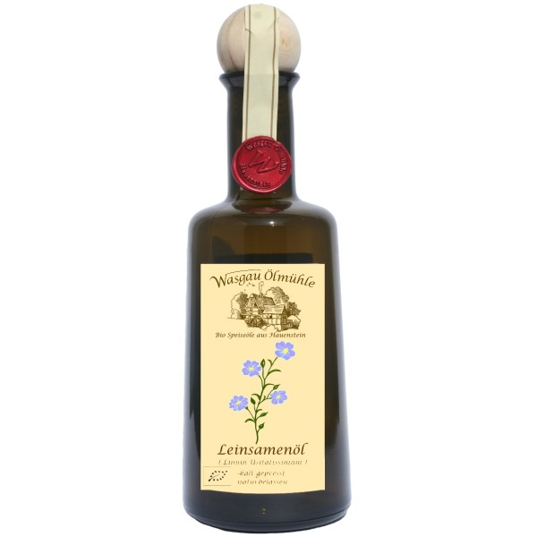 "Wasgau Ölmühle - Bio Leinsamen Öl ""Braun""- 500 ml - kaltgepresst, naturbelassen"