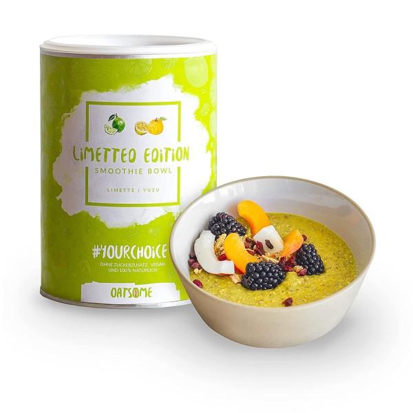 Oatsome - Limette & Yuzu - Smoothie Bowl - Nährstoff Frühstück mit 100% natürlichen Zutaten & ohne Zusatzstoffe und raffinierten Zucker - Lange satt mit nur 200 kcal - 400g