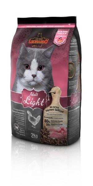 Katzen Trockenfutter - Adult Light für Katzen mit Übergewicht 2Kg - Leonardo Katzenfutter