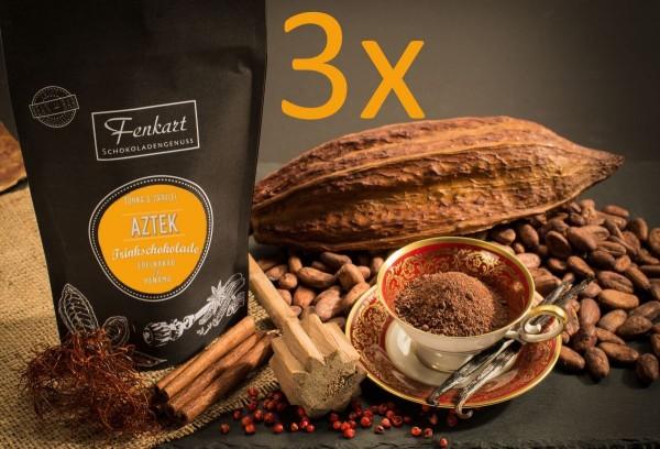 Trinkschokolade Aztek 3x Tonka & Vanille 200g | Kakao Natur aus kräftigem Edelkakao aus Panama