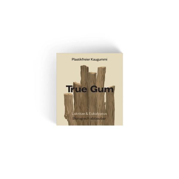True Gum - Plastikfreie Kaugummi - Lakritze & Eukalyptus - 100% Biologisch abbaubar