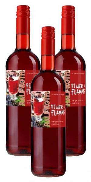 Glühwein Heiße Pflaume mit Chai 3x 0,75l-Feuer & Flamme-Prämiert aus Deutschland