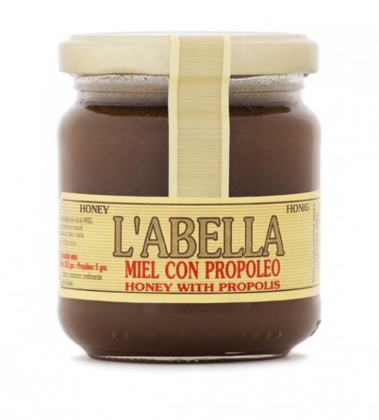 Spanischer Honig mit Blütenpollen - reines Naturprodukt ohne Zuätze in Premiumqualität - 250 g Glas