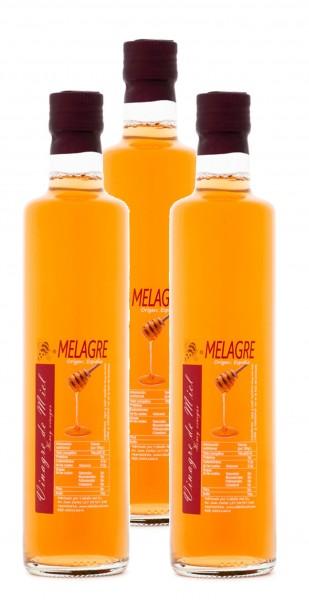 Honigessig mit Blütenhonigmet aus Spanien- Premium Qualität- Naturprodukt- im Faß gereift- 3x 500 ml