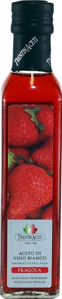 Erdbeeressig - Weißweinessig mit Aroma - Erdbeer Essig aus Italien - TrentinAcetia - 250 ml