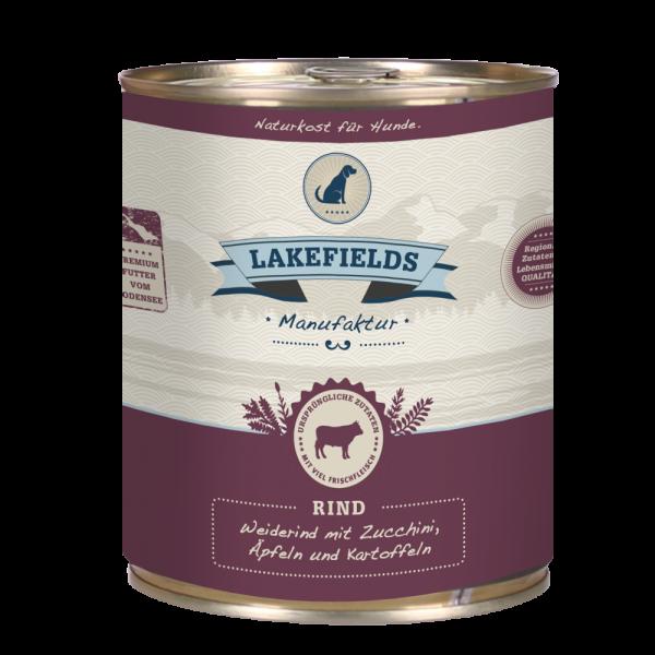 LAKEFIELDS MANUFAKTUR Nassfutter MENÜ RIND 61% Fleischanteil für Hunde