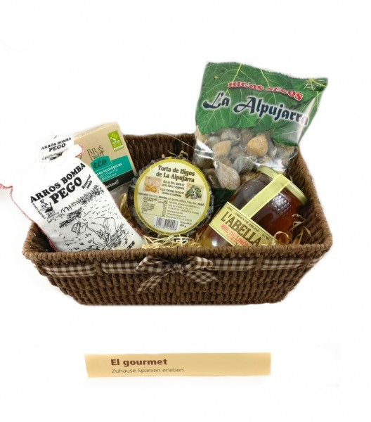 El Gourmet-Geschenkkorb - Besondere Geschenkkörbe - Delikatessen-Präsentkorb für Spanische Gourmets