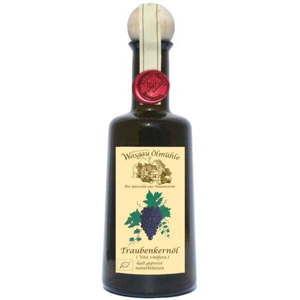 Wasgau Ölmühle-Bio Traubenkern Öl-500ml- kaltgepresst,ungefiltert,naturbelassen