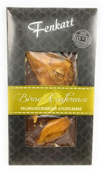 Birne Conference Schokolade 1x 100g - Fenkart Schokoladengenuss - Vollmilch Edelvollmichschokolade 43%