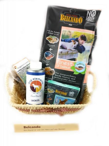 Belcando Hunde-Geschenkkorb - Besondere Geschenkkörbe - Delikatessen-Präsentkorb