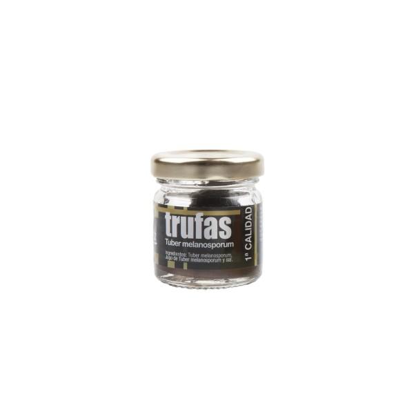 Echter ganzer schwarzer Winter - Trüffel der Spitzenklasse aus Spanien - 1.Qualität - 12,5 g im Glas