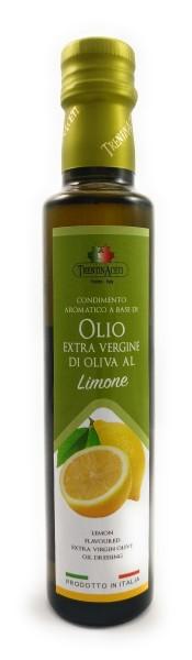 Extra Natives Olivenöl mit natürlichen Zitronenaroma aus Italien - höchste Qualität - 250 ml
