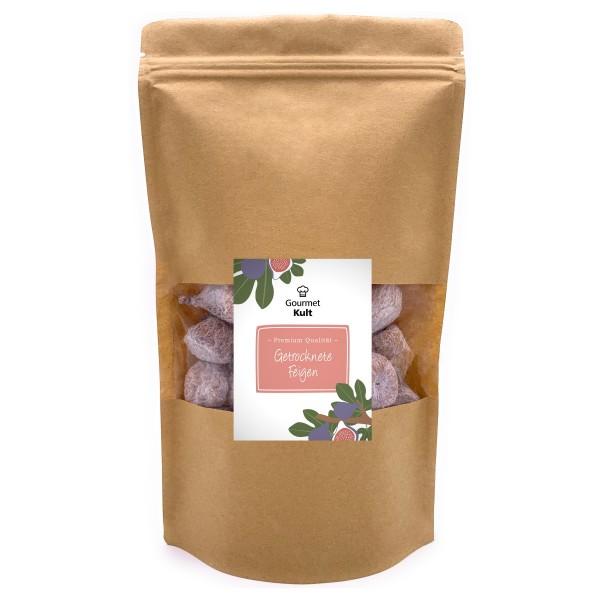 GourmetKult - Getrocknete Feigen aus Spanien - Premium Qualität - 100 % natürlich - Glutenfrei - 500 g Packung