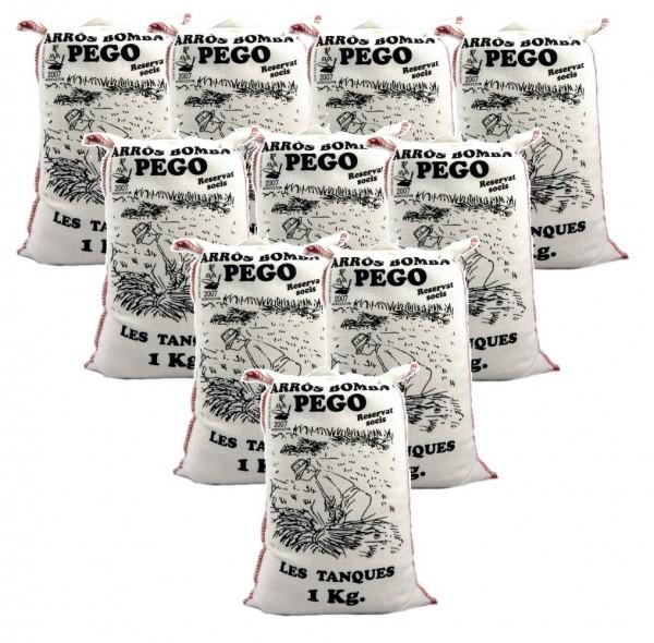 Bomba Reis aus Spanien 10 x 1 Kg - Rundkornreis - für Paella, Risotto... - Anbau im Naturpark Marjal