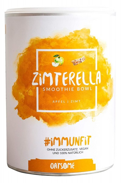 Oatsome - Zimterella - Smoothie Bowl - Nährstoff Frühstück mit 100% Natürlichen Zutaten & ohne Zusatzstoffe und raffinierten Zucker - Lange satt mit nur 200 kcal - 400g