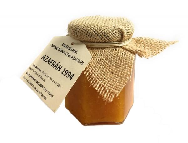 Azafran 1994 Mandarinenmarmelade 200g mit Safran aus Spanien - Spanischer Safran - Natürlicher Geschmack
