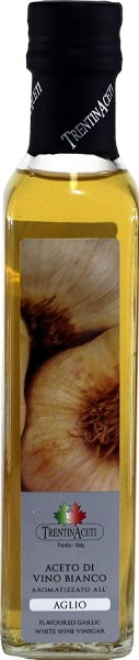 Knoblauchessig - Weißweinessig mit Aroma - Knoblauch Essig aus Italien - TrentinAcetia - 250 ml