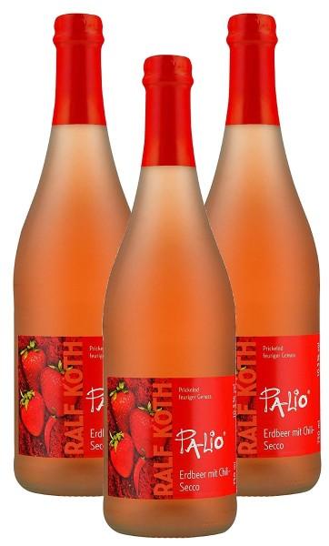 Palio - Erdbeer mit Chili Secco 3x 0,75l - Fruchtiger Perlwein - Prämiert