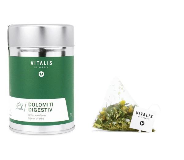 Vitalis - Kräutertee Dolomiti Digestiv 36g - Tee von Vitalis Dr. Joseph