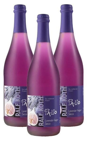 Palio - Lavendel mit Feige Secco 3x 0,75l - Fruchtiger Perlwein - Prämiert aus Deutschland