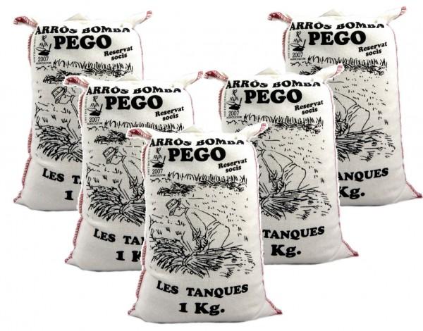 Bomba Reis aus Spanien 5 x 1 Kg - Rundkornreis - für Paella, Risotto.... - Anbau im Naturpark Marjal
