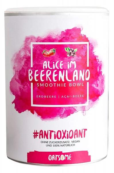 Oatsome - Alice im Beerenland - Smoothie Bowl - Nährstoff Frühstück mit 100% natürlichen Zutaten & ohne Zusatzstoffe und raffinierten Zucker - Lange satt mit nur 200 kcal - 400g