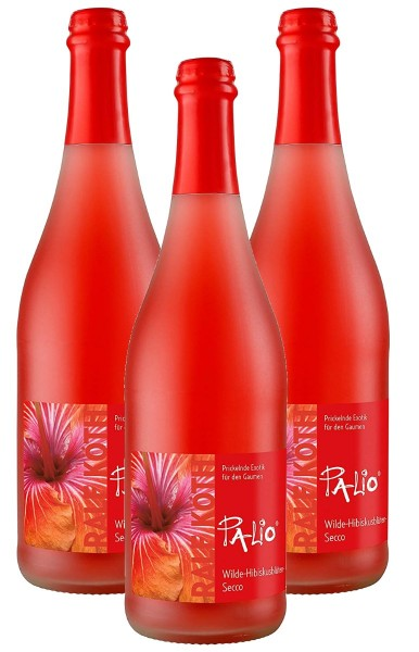 Palio - Wilde Hibiskusblüte Secco 3x 0,75l - Fruchtiger Perlwein - Prämiert