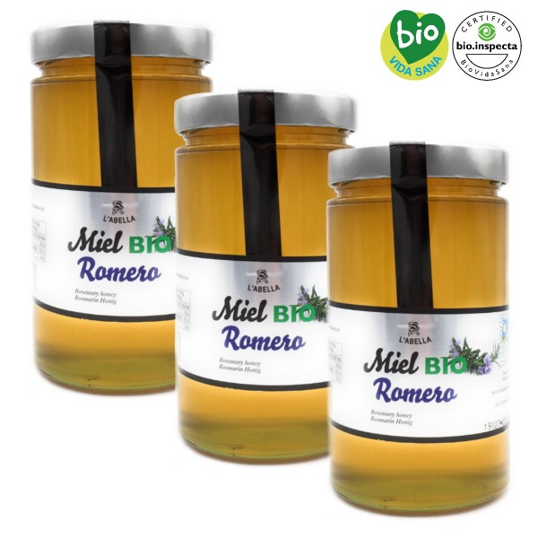 BIO Rosmarinhonig aus Spanien - Premium Qualität- reines Naturprodukt- 3 x 900 g