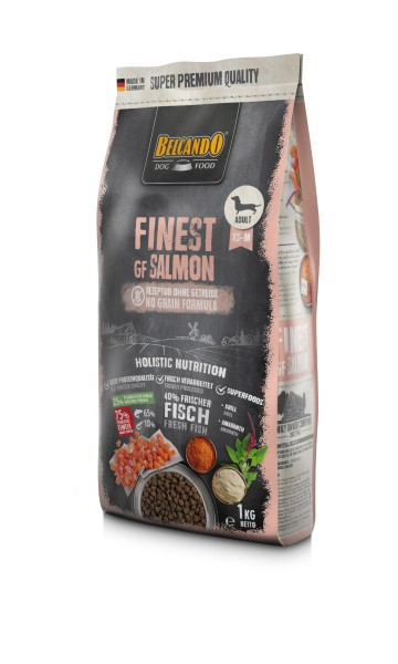 Hunde Trockenfutter - Adult GF Salmon mit Lachs 1kg - Belcando Hundefutter - getreidefrei