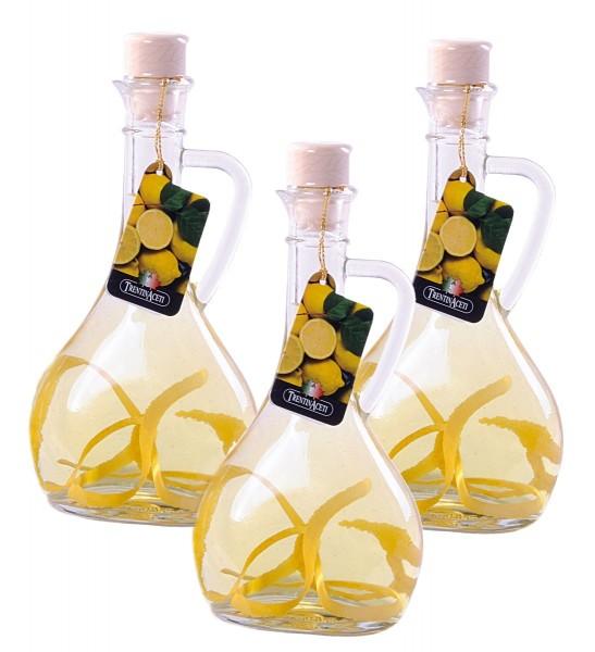 Zitronenessig - Weißweinessig mit Aroma - Zitronen Essig aus Italien - 3x 250 ml