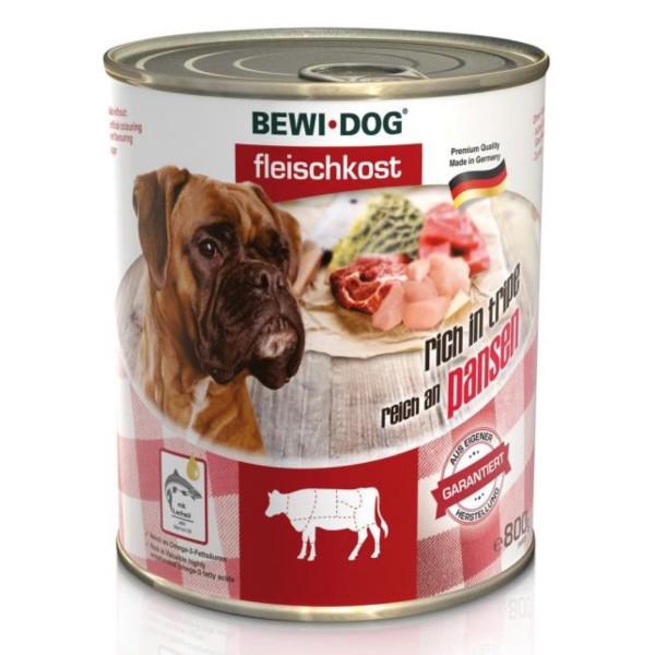 Bewi Dog - Hunde Fleischkost - Reich an Pansen - 800g
