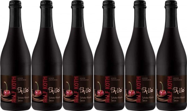 Palio - Schoko Kirsch Secco 6x 0,75l - Fruchtiger Perlwein