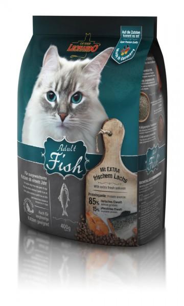 Katzen Trockenfutter - Adult Fish mit Fisch & Reis 400g - Leonardo Katzenfutter - leichtverdaulich