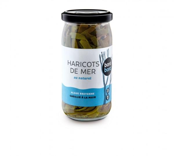 Bord à bord BIO Meerbohnen, eingelegte Meeresspaghetti 170g aus Frankreich/Bretagne/Atlantik | Laborgeprüfte Algen | knackiges Meeresgemüse | als Tapas oder zu Fisch und Salaten