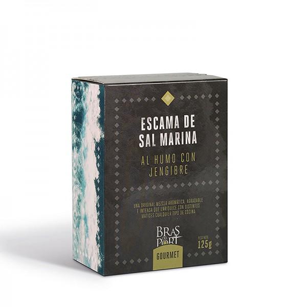 Meersalz Flocken - Flor de Sal - Fleur de Sel - aus Spanien - mit Ingwer Geschmack - 100 % natürlich